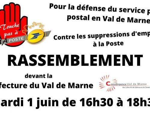 Défendons le service public postal en Val de Marne